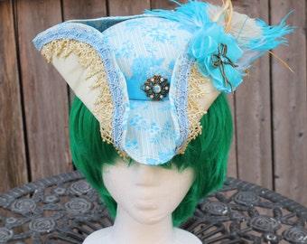 Blue rose elagant ladies dress tricorn