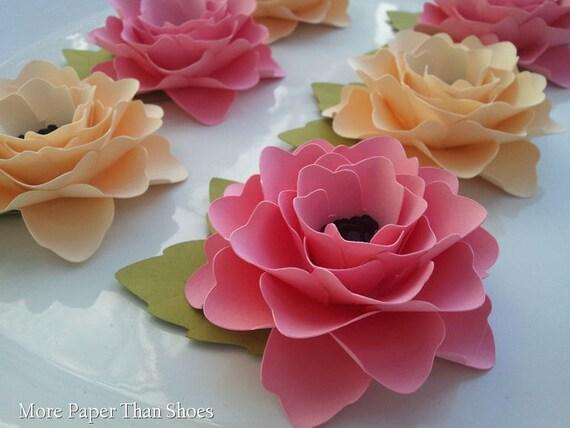 Paper Flowers - Handmade - Elizabeth Rose - Weddings - Table Decorations - Made To Order - SET OF 100
