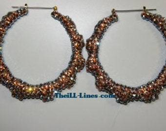 Swarovski Couture Crystal Iridescent Bamboo Earrings