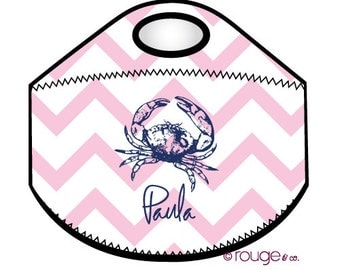 SEASIDE monogrammed lunch cooler - insulated zipper tote bag