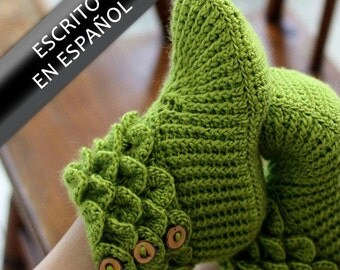CROCHET PATTERN: Botas En Puntada Cocodrilo (Tamaño Adulto) - Permission to Sell Finished Product