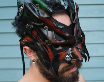 Earth Demon Lord Leather Mask