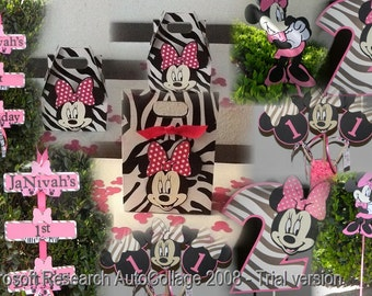 Minnie Mouse Party Package - Zebra