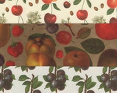12x12 Italian Art Papers Featuring Ripe Fruits for Collage BookbindingPaper Arts Card Making
