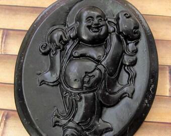 Natural Stone Tibet Buddhist Buddha Ru-Yi Amulet Pendant 51mm x 41mm  TH026