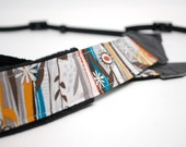 Camera Strap slr- Ridge (Flowers, yellow, teal)