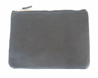Black Leather iPad case/Clutch