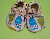 Owl Crib Shoes-boy