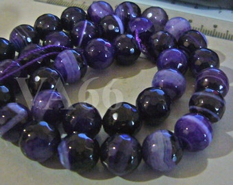 10mm Purple Dyed White Jade Line Gemstone Beads Facetted Round 15 Inches Gems Loose Beads Jewelry making supplies Feng Shui Beads Craft