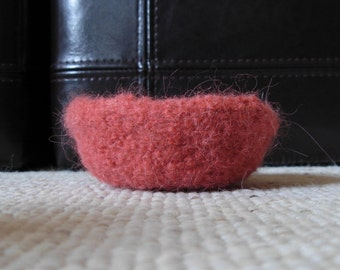 Felted Bowl in Peach