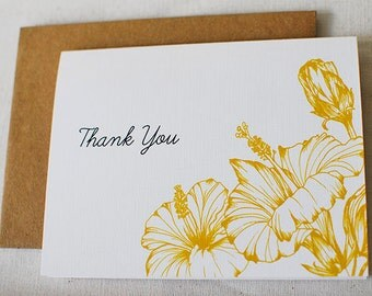 Hibiscus- Thank You Card