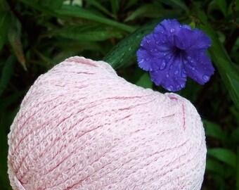 CHUNKY Weight Yarn - Rose Cotton Blend - 50g 65 yards - Gedifra Satata - rose pink summer spring