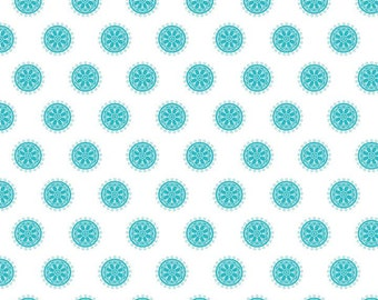 The Quilted Fish for Riley Blake - Madhuri - Circles in Blue - 1 Yard - Cotton Fabric