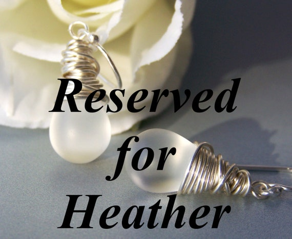 RESERVED FOR HEATHER .... White Frosted Dangle Earrings
