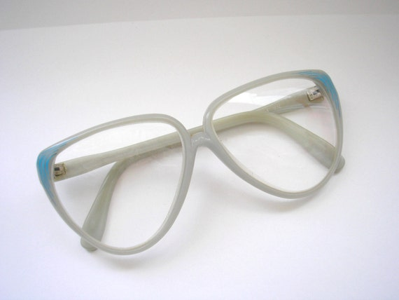 Vintage grey and blue glass and lucite frames eyeglasses