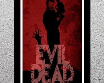 The Evil Dead - Bruce Campbell - Horror Movie Cult Limited Edition Original Art Poster Print - 13x19