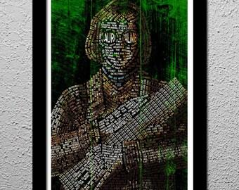 Log Lady Typographic - Original Poster - Twin Peaks - David Lynch - Catherine Coulson - Art Print 13x19