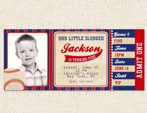 baseball birthday invitations, Birthday invitations