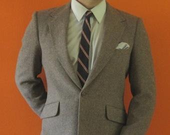 Blue Tone Tweed Jacket sz 38