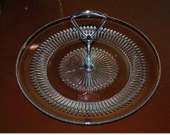 Vintage Glass Tidbit Dish-Snack Dish