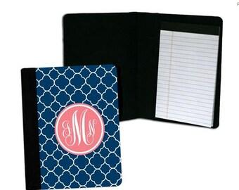 Personalized Notebook, Large Monogram Notebook, Custom Pad folio, Notepad Folio, Teacher Gift