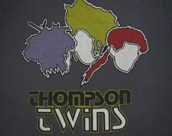 Original THOMPSON TWINS vintage 1984 tour TSHIRT