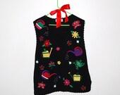 Vintage Sweater Garden Love Vest