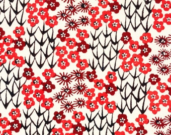 Japanese Katazome Paper - Orange Floral