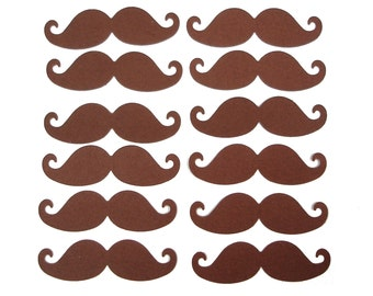 50 Brown Mustache punch die cut scrapbooking embellishments - No215
