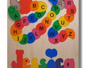 Wooden Name Puzzle | ABC Alphabet Capital and Lower Case Letters