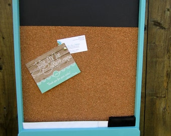 X-Large Mail Holder with Chalkboard & Corkboard