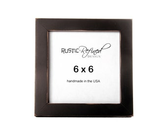 6x6 gallery 1 picture frame with black