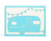 Vintage Trailer - Paper Cut Greeting Card