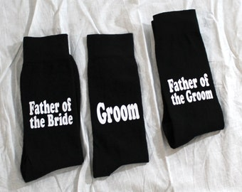 Groom Socks, Wedding Socks, Wedding Party Gift, ONLY 1 pair - NOT 3 - U pick