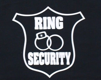 Ring Bearer Shirt, Ring Security Shirt, Customize with his name