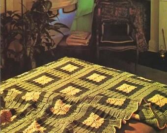 Crochet Pattern - Crochet Blanket, Afghan PDF Pattern - 3004 -132 - Instant Download