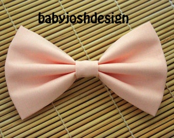 Ice Peach Fabric Hair bow for teens or women,girls hair bows,basic hair bows , Hair Bows