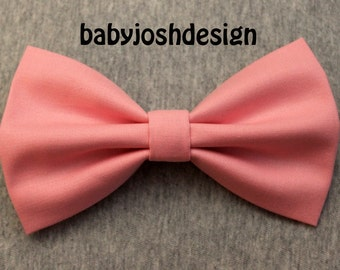 Pink  Fabric Hair bow for teens or women,girls hair bows,basic hair bows , Hair Bows