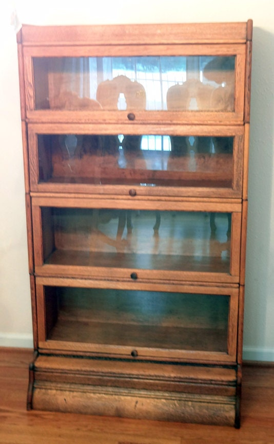 Antique Lawyers Barrister Bookcase Vintage Free Shipping
