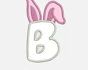 Bunny Ears Alphabet A-Z...Embroidery Applique Design...Two sizes for multiple hoops...Item1491...INSTANT DOWNLOAD.
