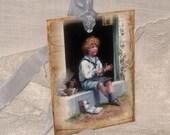 Gift Tags, Vintage Inspired Homework Time  CHILD004 ECS
