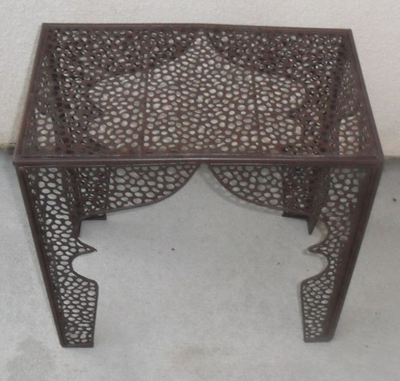 Small Unique Metal Accent Table