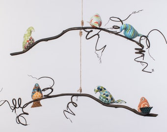 2 Tier Bird Mobile - Sam/Samantha Collection