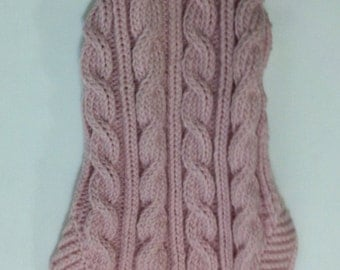 Classic Aran Knit Dog Sweater in Pink Quiltsy Handmade