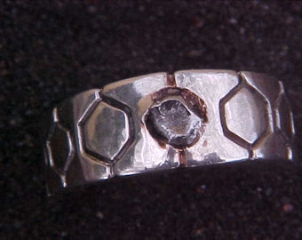 Campo Del Cielo METEORITE IMPACT  custom KAM Sterling Silver  Ring mounting