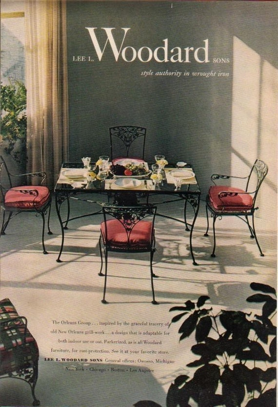 Wrought Iron Table 4 Chairs Cushions Woodard Grapes – Etsy Chair Cushions