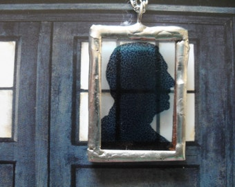 The Ninth Doctor Silhouette Necklace