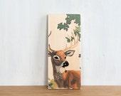 Paint by Number Art Block 'Buck' - deer, stag, vintage
