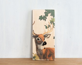 Paint by Number Art Block 'Buck' - deer, stag, vintage