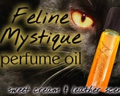 "Catwoman Inspired Perfume Oil - ""Feline Mystique"" Sweet Milk & Leather Roll-On Fragrance"